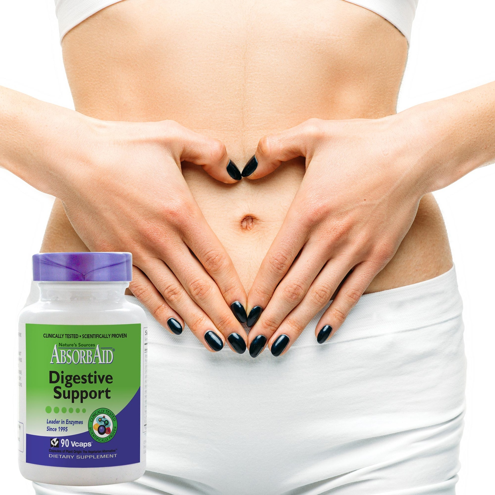 AbsorbAid Original 90 Digestive Enzymes happy stomach