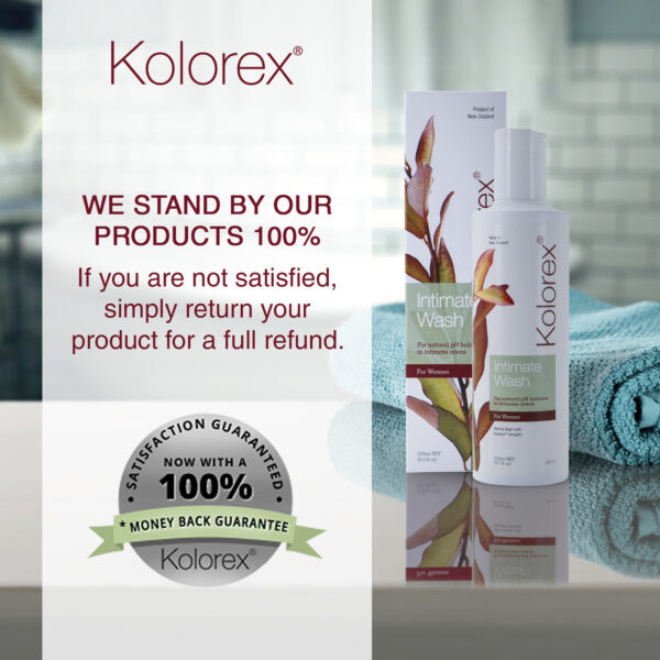 Kolorex Intimate Wash satisfaction guarantee