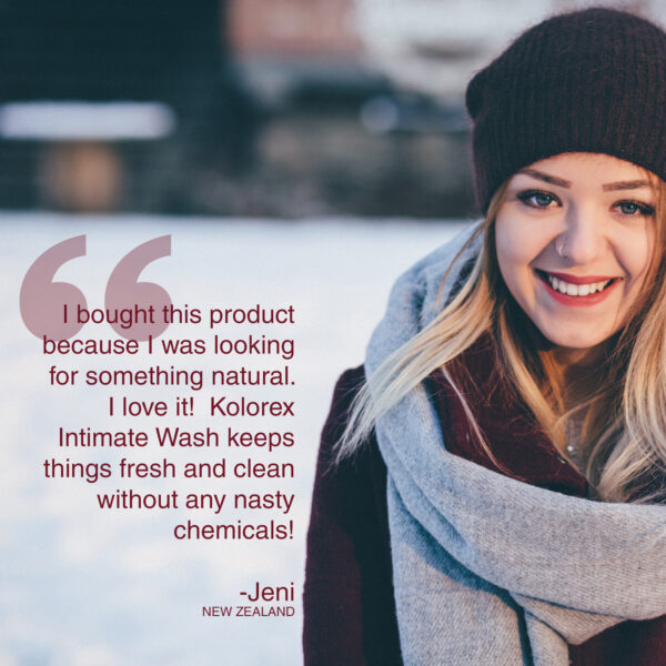 Kolorex Intimate Wash testimonial