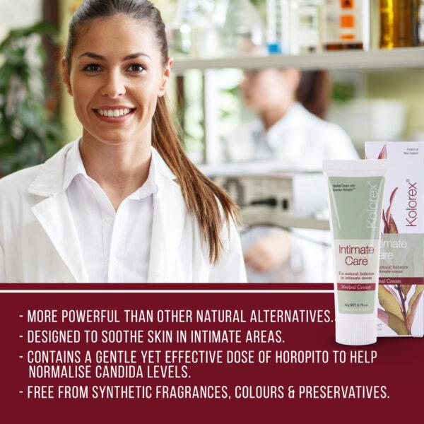 Kolorex Intimate Care Cream features list