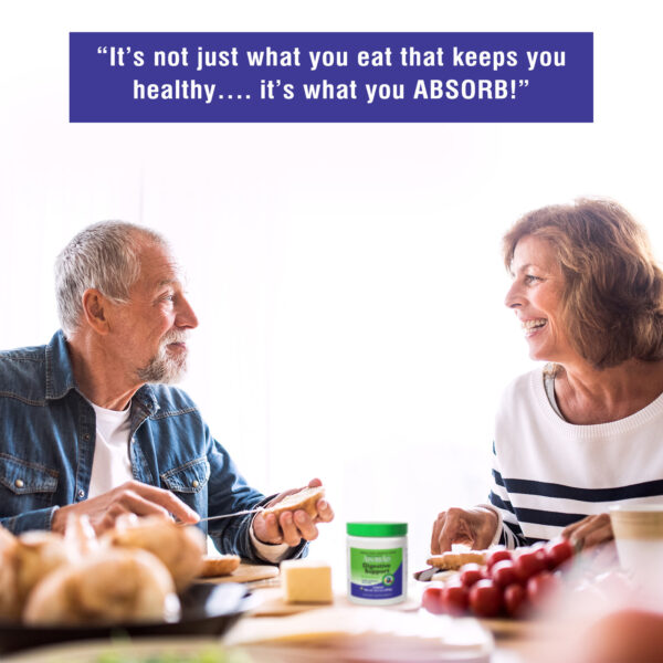 AbsorbAid Original 300g Digestive Enzyme Powder senior age couple