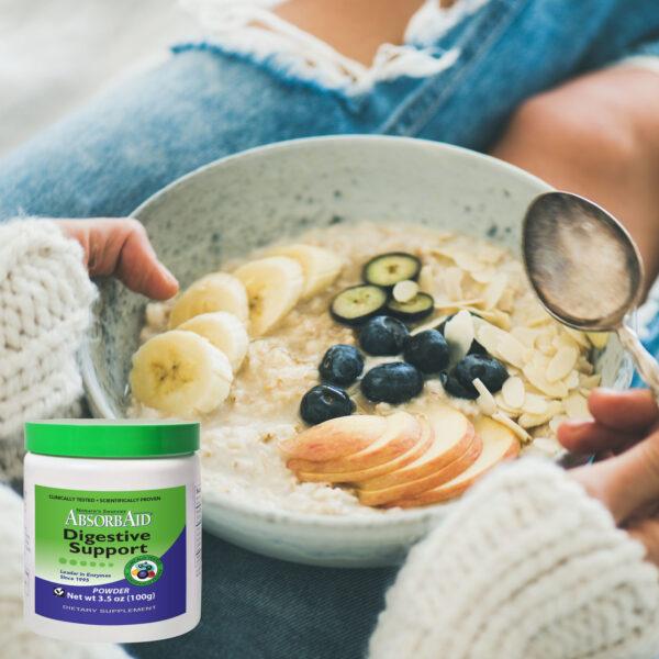 AbsorbAid Original 100g Digestive Enzyme Powder breakfast