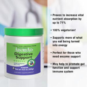 AbsorbAid Original 300g Digestive Enzyme Powder features