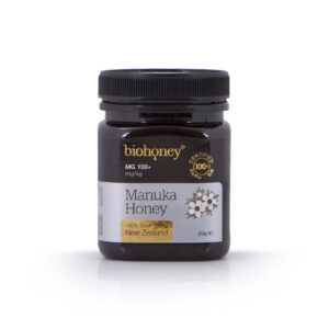 Biohoney Organic 100% Manuka Honey from NZ Certified MG 100+ size 250g