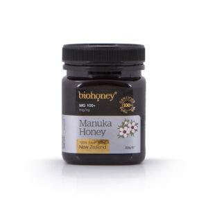 Biohoney Organic 100% Manuka Honey from NZ Certified MG 100+ size 250g