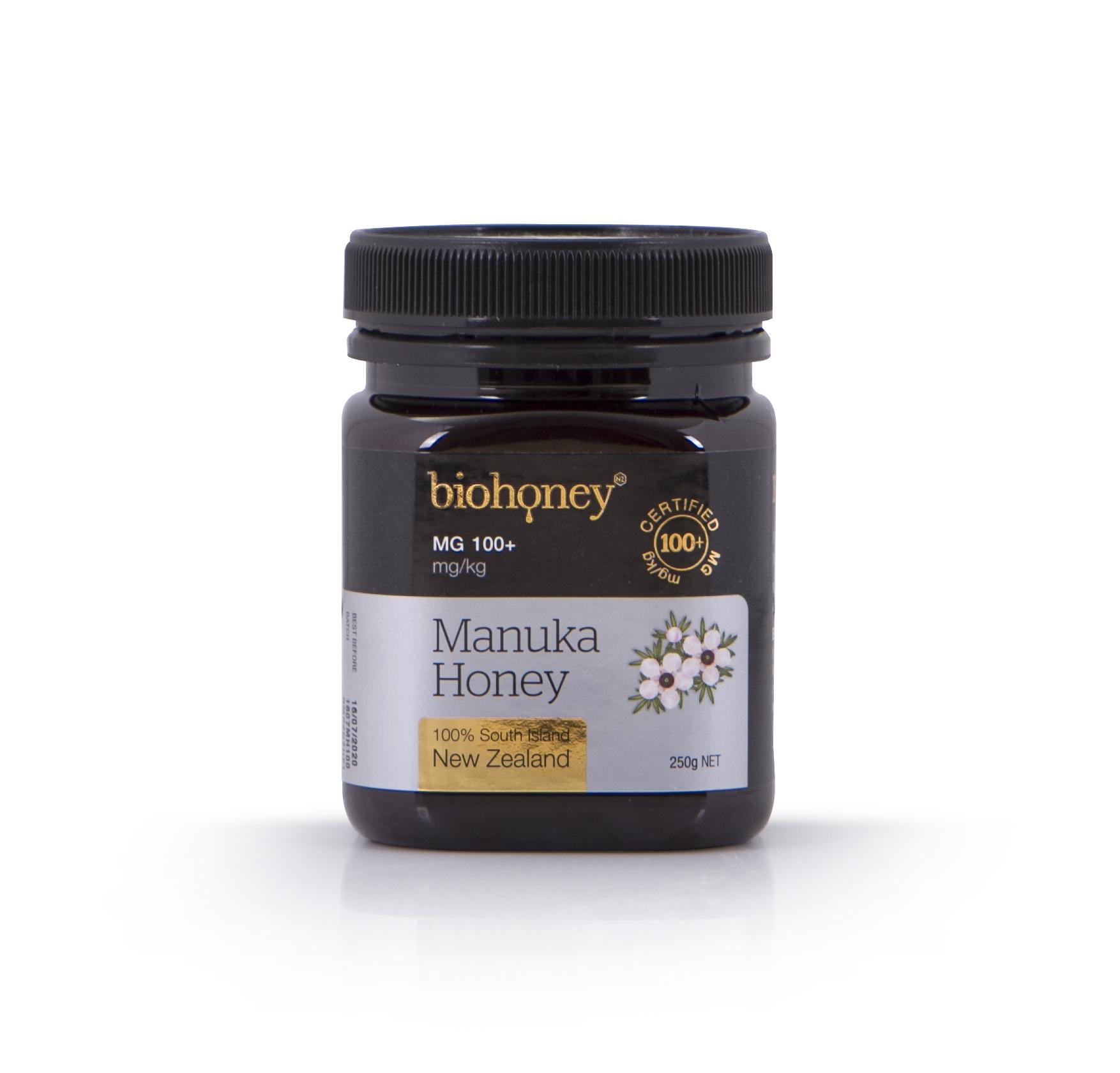Biohoney Manuka Honey 100 plus MG 250g bottle